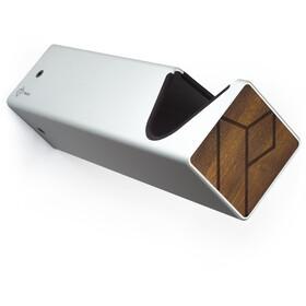 PARAX D-Rack Wandhalterung Aluminium mit Holzfront silber/braun